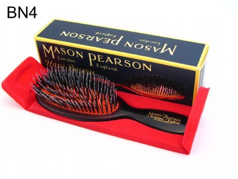 Mason Pearson Pocket Size Bristle and Nylon Hairbrush (BN4) Dark Ruby